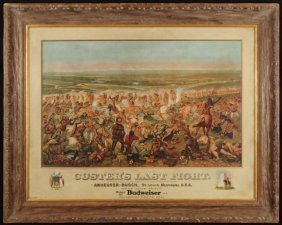 "19: Anheuser-Busch ""Custer's Last Fight"" Lithograph"