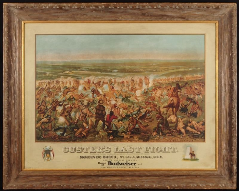 """19: Anheuser-Busch """"Custer's Last Fight"""" Lithograph"""