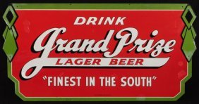 21: Grand Prize Beer Double Sided Porcelain Sign