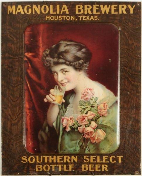 22: Magnolia Brewery Southern Select Tin Sign Rare