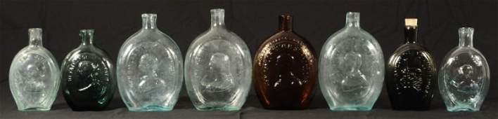 505: Collection of 8 Antique Glass Bottles