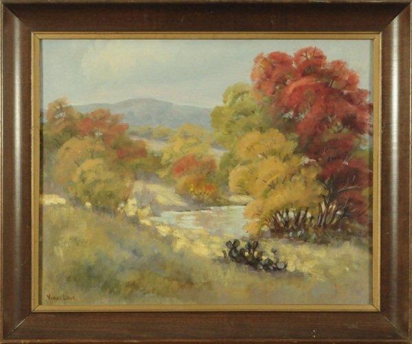 Vivian Love Texas Landscape Oil on Canvas