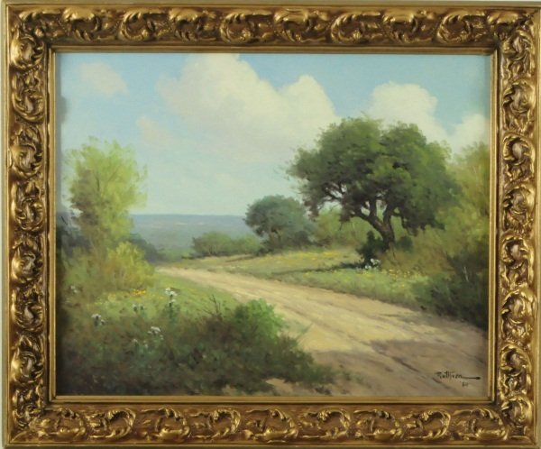 """Jerry Ruthven """"A Country Road Near Austin"""" Panting"""