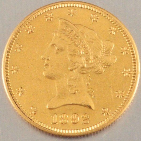 1892 $10 Gold Coin