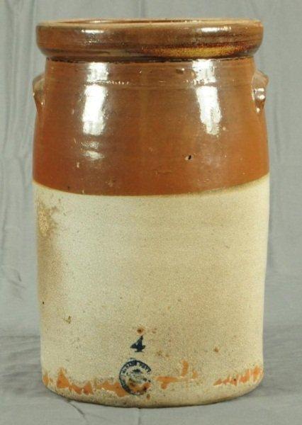 3: McDade Texas 4 Gallon Stoneware Pottery Churn