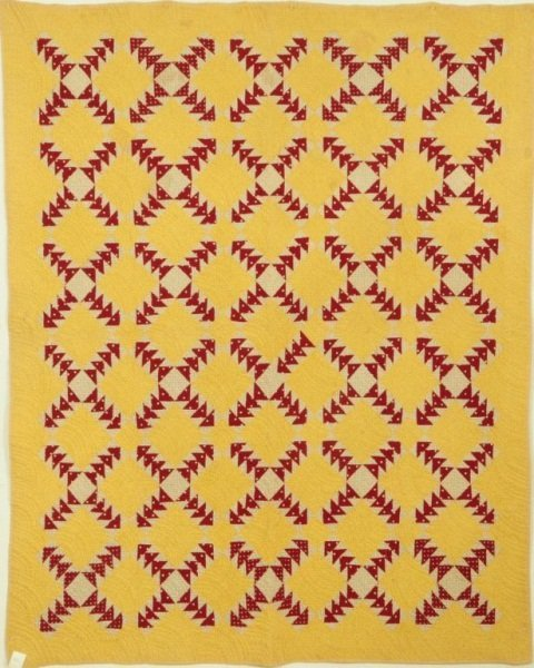13: Red & Yellow Texas Quilt