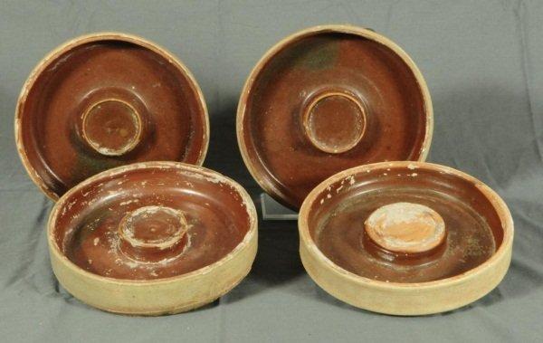 20: Set Of 4 Meyer Texas Stoneware Ant Traps