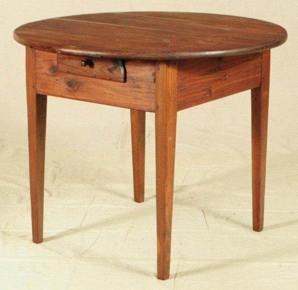 21: Round Texas Cedar Table