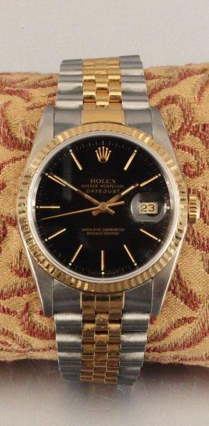 207: Gents 1990 Stainless Steel & 18kt YG Rolex Watch
