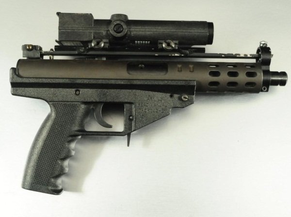 281: A A Arms Model AP9 9mm With Laser Sight