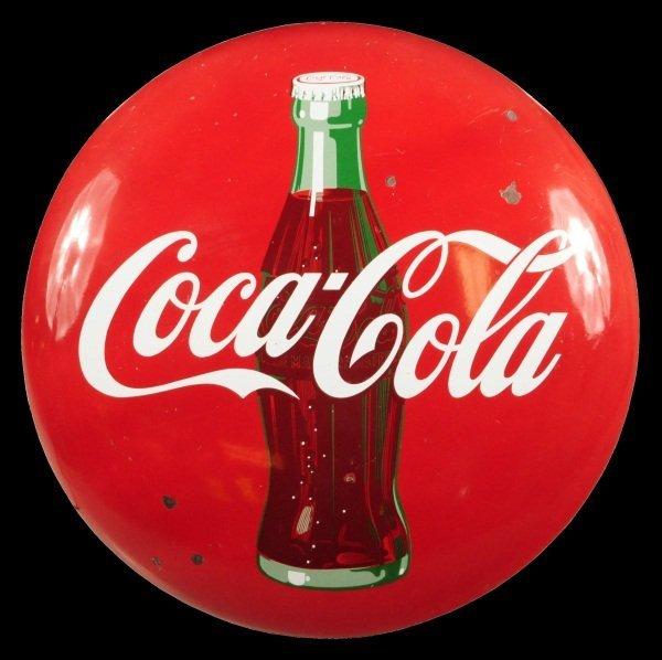 3: Coca-Cola Porecelain Button Sign