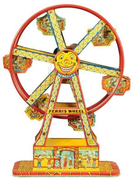 6: J. Chein Ferris Wheel Lithographed Tin Toy
