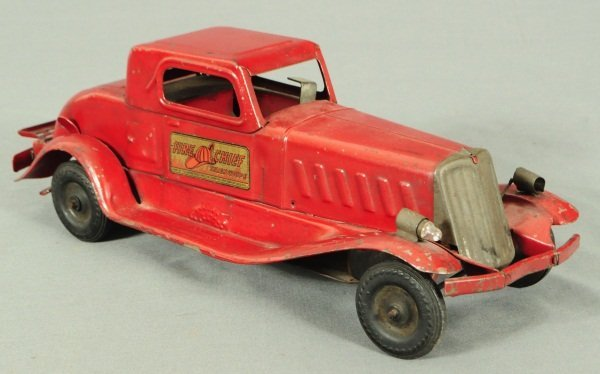 7: Girard Fire Chief Siren Coupe Toy Car