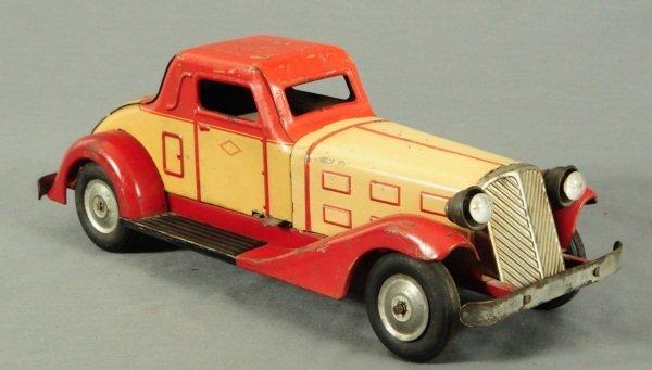 9: Louis Marx Tin Toy Car - 2