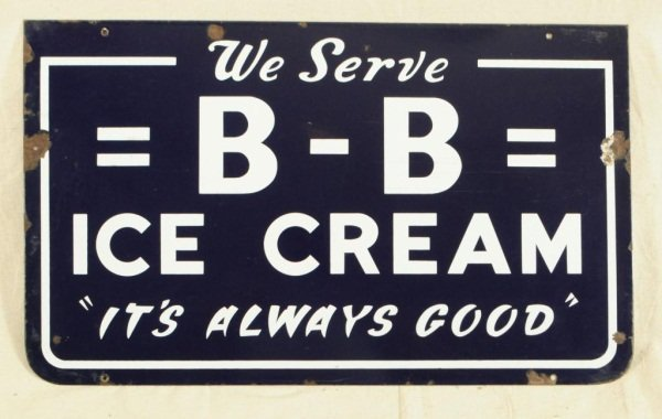 14: Blue Bell Ice Cream Porcelain Sign