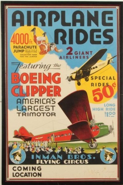 15: Vintage Boeing Clipper Airplane Ride Poster