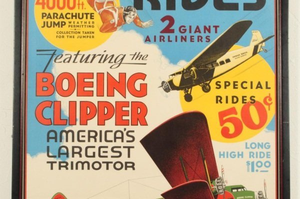 15: Vintage Boeing Clipper Airplane Ride Poster - 3