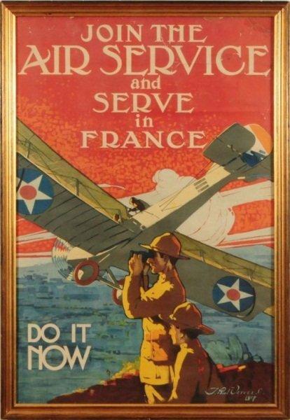 17: World War I U.S. Army Air Service France Poster