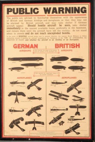 18: 1915 WW I German Airplane ID Poster
