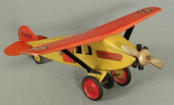21: Keystone Air Mail Steel Toy Airplane