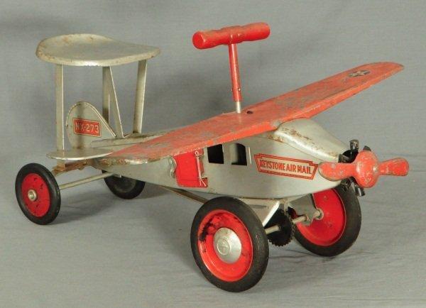 22: Keystone Air Mail Steel Toy Airplane