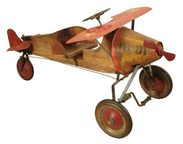 23: Antique Bucket Nose Pedal Airplane