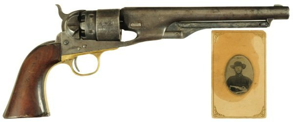 245: Upton S. Crooks' Colt 1860 Army Confederate Pistol