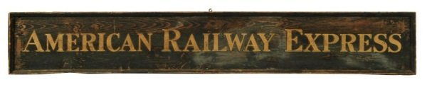 American Railway Express Wooden Sign