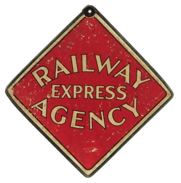 Railway Express Agency D/S Cardboard Sign