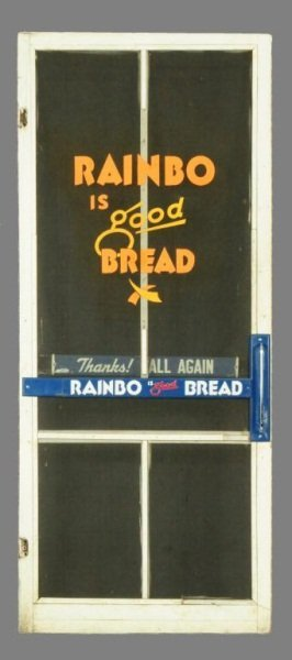 Rainbo Bread Advertising Screen Door