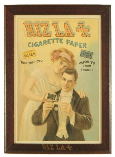 RIZ LA Cigarette Paper Advertising Sign