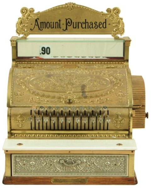 National Brass Cash Register # 337