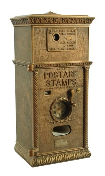 Antique Brass Postage Stamp Machine