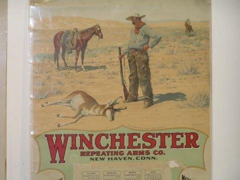 174: Winchester 1901 Calendar Vintage All Original