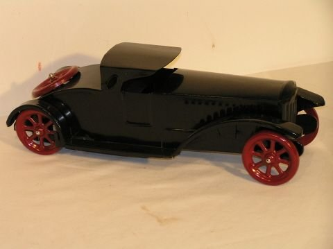 33: Schieble Roadster Vintage Pressed Steel Toy Car