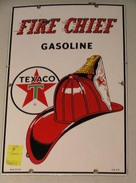 5: Texaco Fire Chief Porcelain Gas Pump Sign