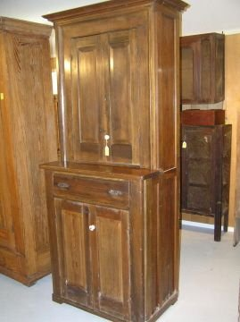 59: Early Texas Made Furniture Cypress Cabinet
