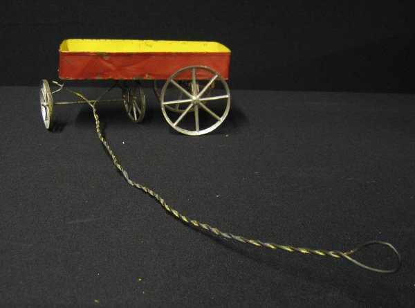 4: Painted Tin Toy Wagon