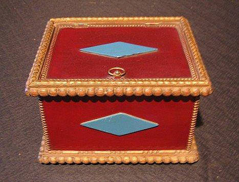 10: Paint Decorated Folk Art Jewelry Box