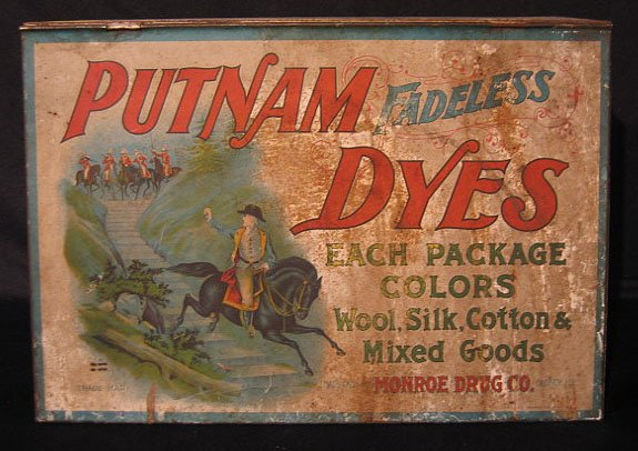 14: Putnam Dyes Tin Countertop Cabinet