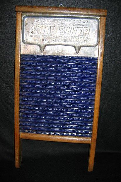 16: Cobalt Granite Ware Porcelain Enamel Washboard