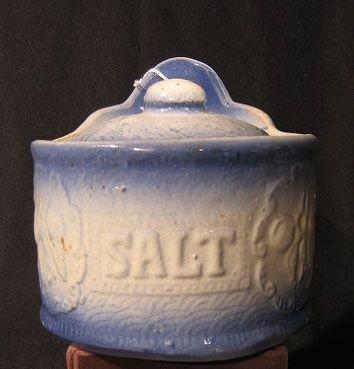 19: Blue And White Salt Glaze Salt Holder