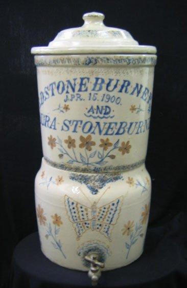 321: Stoneware Stoneburner Water Cooler 1900 --OHIO
