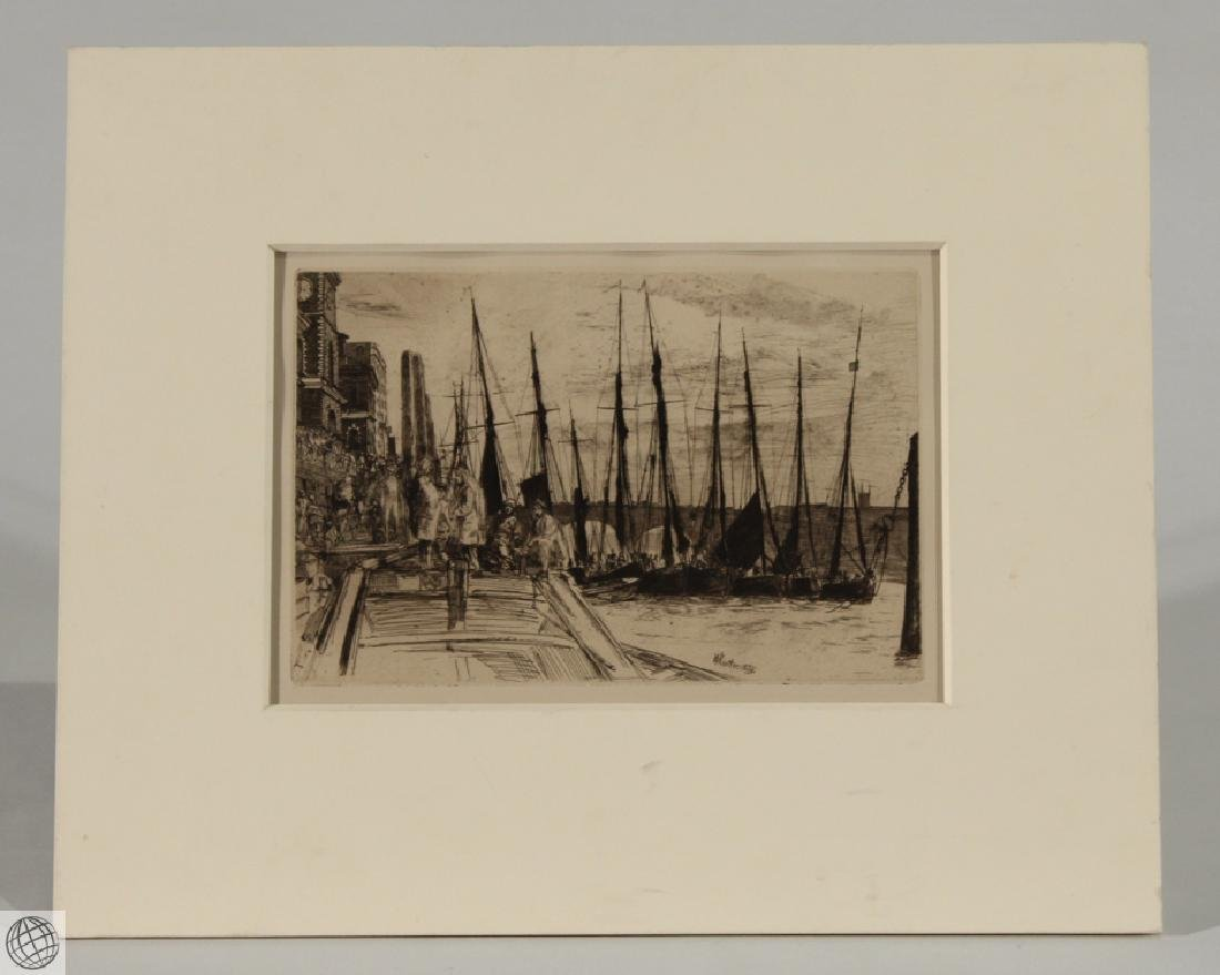 Billingsgate J.A.M. WHISTLER Etching Drypoint Plate