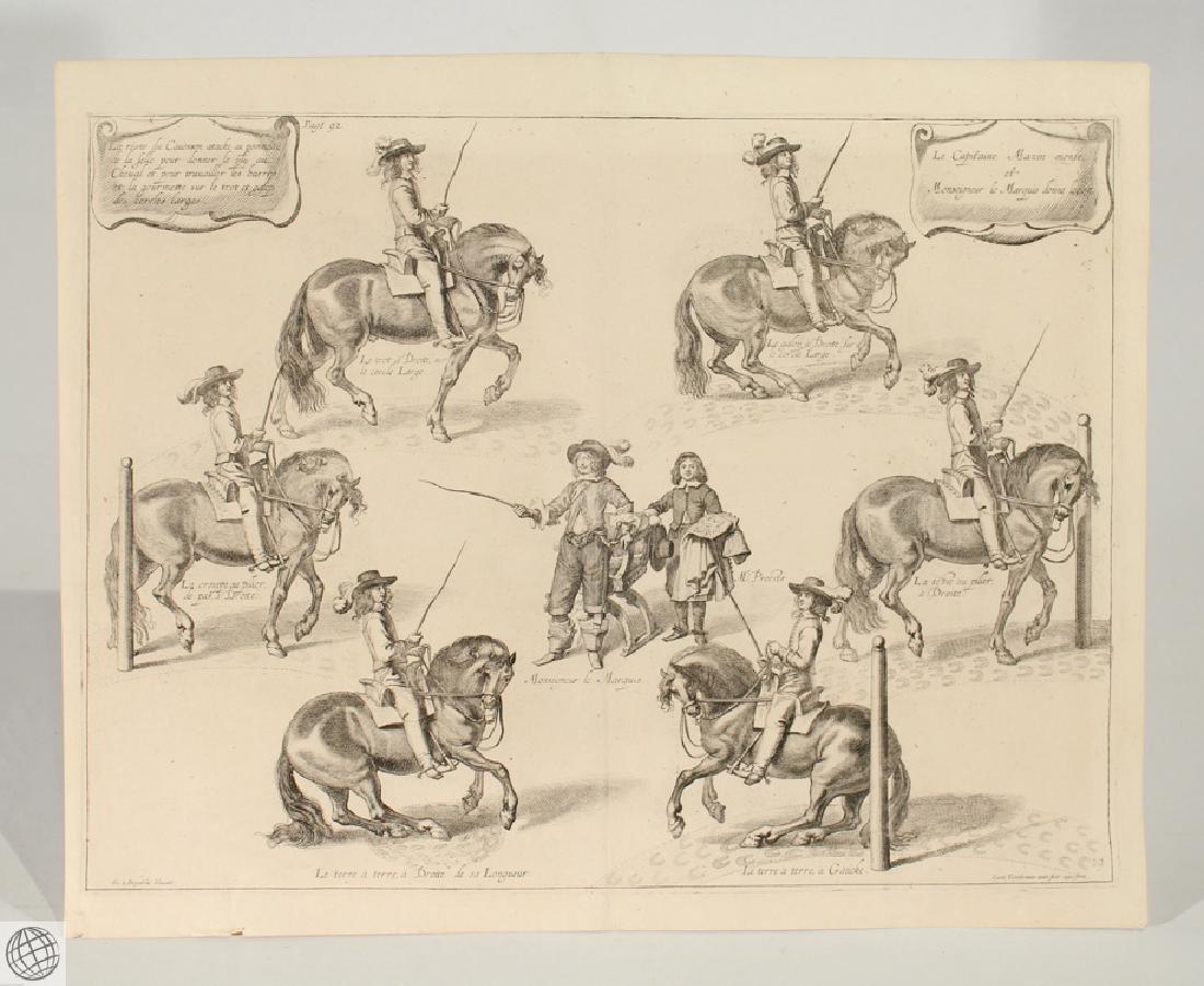 Horse Riding NEWCASTLE Duke Cavendish Copper Engraving