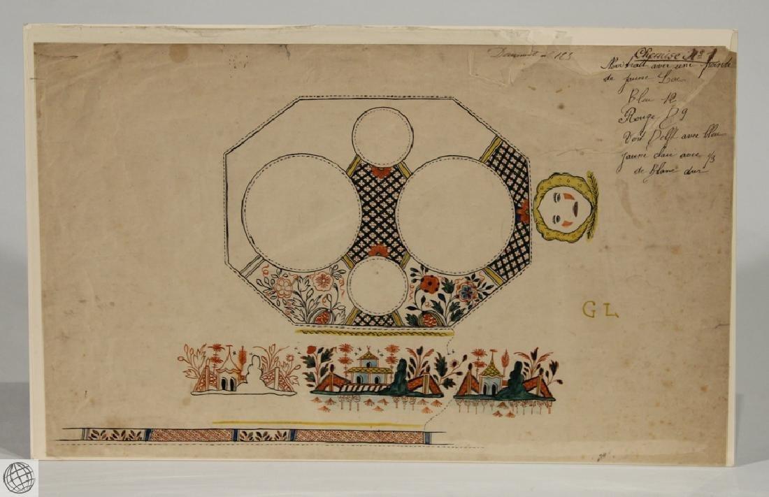 Paris Porcelain SAMSON & CO. Original Pen Ink