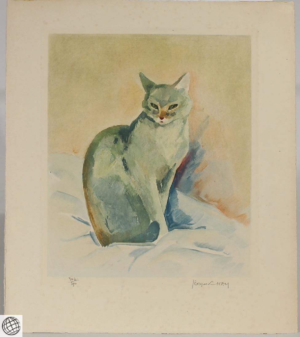 Cat Portrait JACQUES LEHMANN NAM C1930 Vintage Original