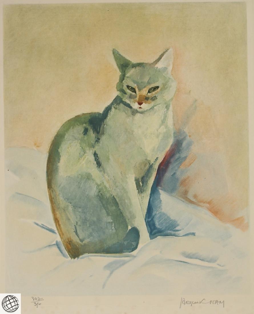 Cat Portrait JACQUES LEHMANN NAM C1930 Vintage Original - 2