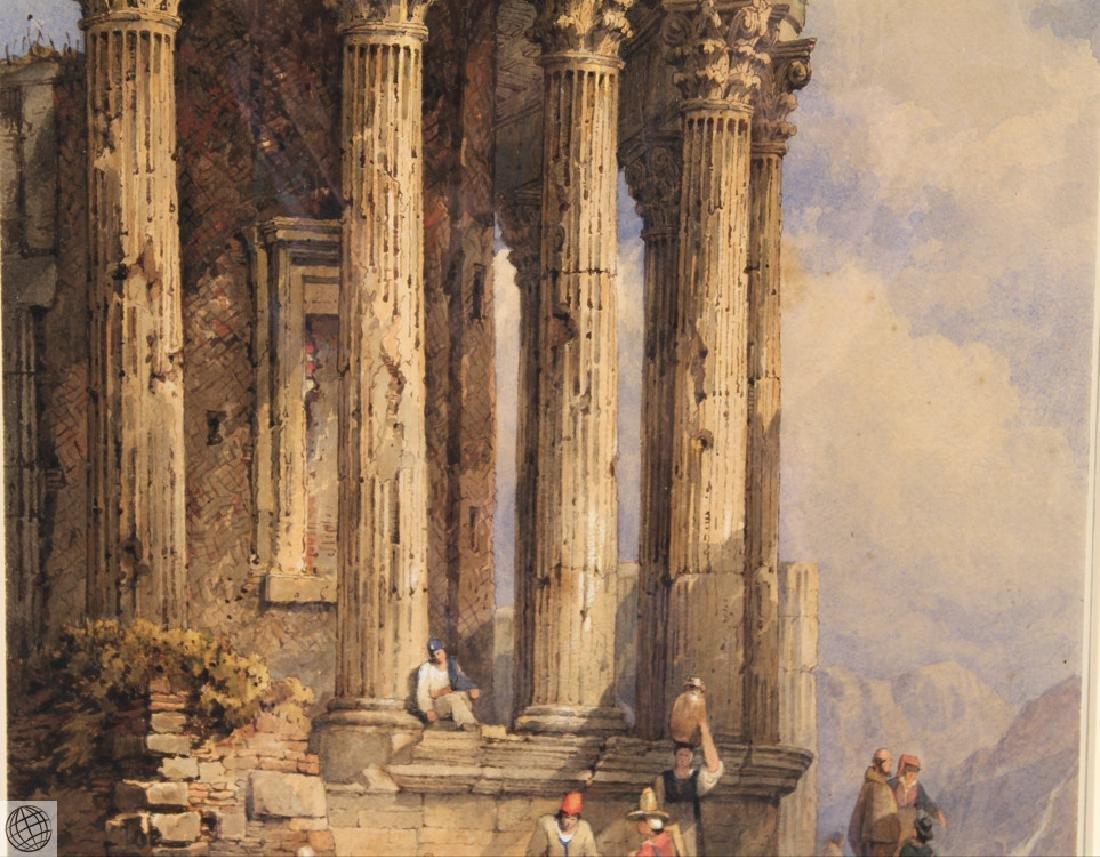 Tivoli Temple Of Vesta SAMUEL PROUT Signed Watercolor - 4