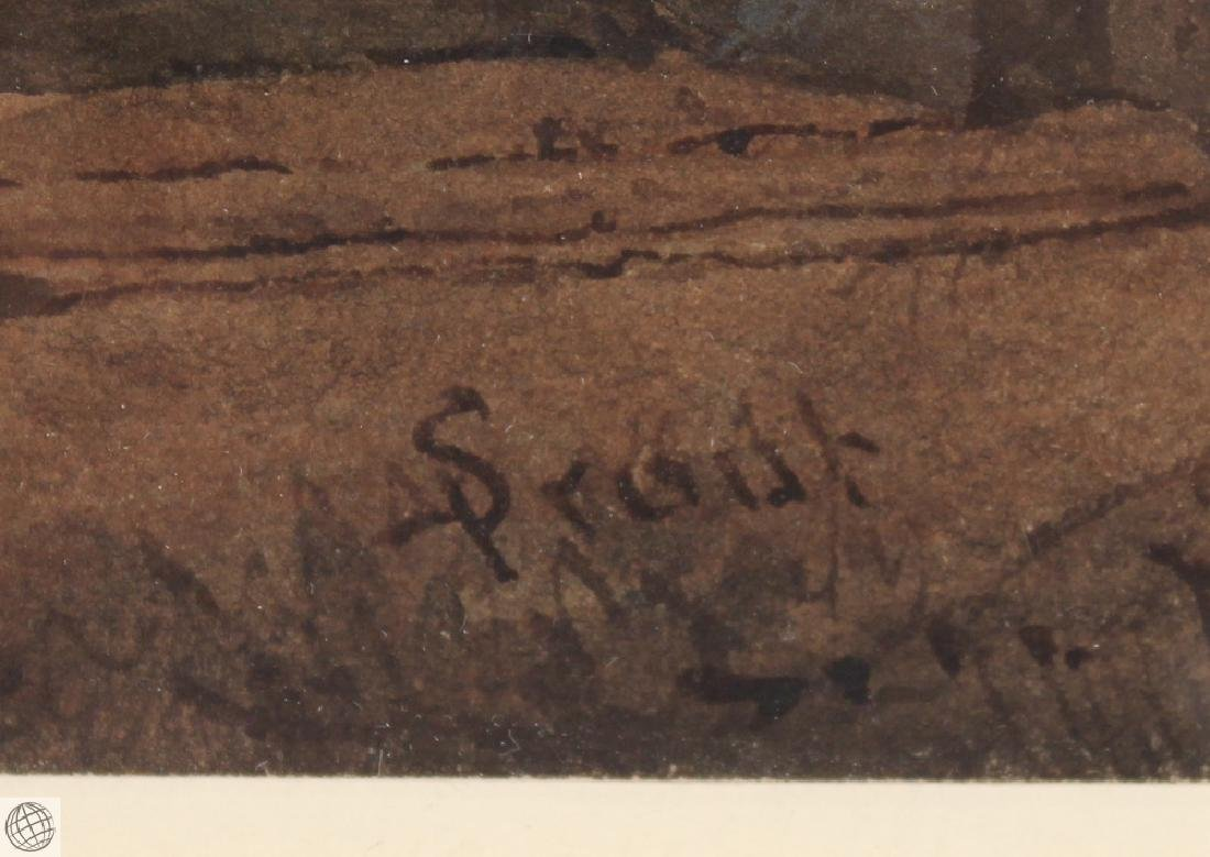 Tivoli Temple Of Vesta SAMUEL PROUT Signed Watercolor - 6